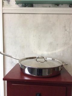 All-Clad 13 1/2 stainless steel braising pan with lid