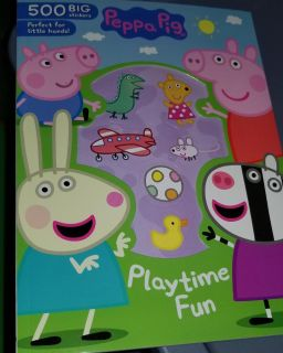 Peppa pig playtime fun book 500 stickers new