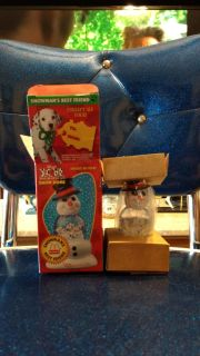"""McDonald's, """"Snowman's Best Friend"""" Disney, 101 Dalmatians snow dome. 1 of 4 in set, dated 1996. New in box but the water evaporated as....."""