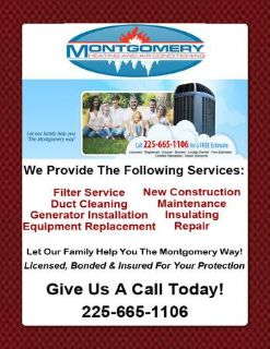 Montgomery Heating  Air  (Denham Springs, LA)