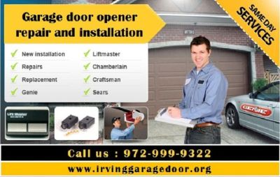 Broken Garage Door Opener Repair ($25.95) Irving, TX