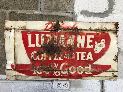 Drink Luzianne Coffee and Tea 100% Good .Metal Sign