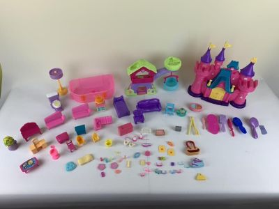 Miscellaneous doll houses furniture etc