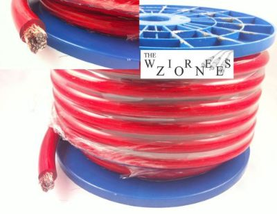 Sell Red 1/0 Gauge 50' Feet Power Cable Wire for Car/Home Audio motorcycle in Los Angeles, California, United States, for US $42.45