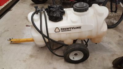 CountyLine 30-Gallon Sprayer with 2.1 GPM Pump, Trailer, Sprayer hose & nozzle