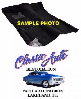 Purchase 62-67 Chevy II Nova MANUAL TRANS Carpet - BLACK - ACC motorcycle in Lakeland, Florida, United States, for US $149.00
