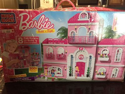 EUC Mega Blocks * Barbie Build n Style Luxury Mansion*