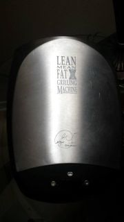 George Forman Lean Mean Fat Reducing Grilling Machine /Stainless SS