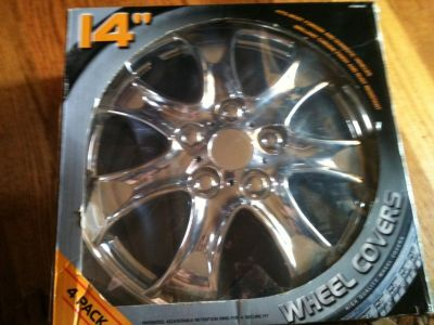 wheel covers 14 inch chrome new