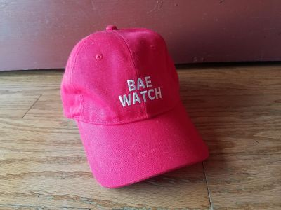 """Forever 21 """"Bae Watch"""" red hat"""
