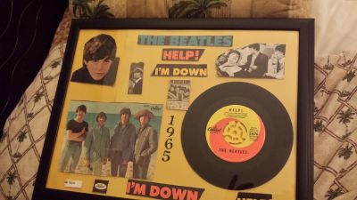 The Beatles 1965 - HELP ' Record Wall Art