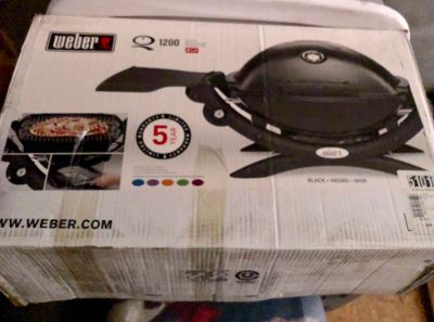 Weber Q Tabletop Grill w/ stand-$150. New in box.
