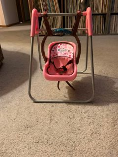 Graco swing,high chair, and carrier for dolls under 18