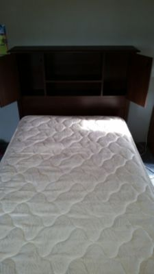 TWIN SIZE BED WITH DRESSER/ MATTRESS SET