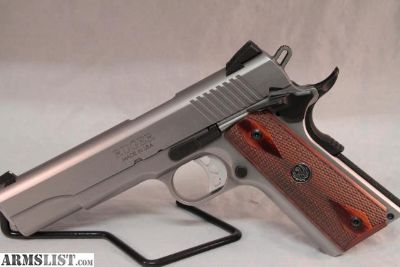 For Sale: RUGER SR1911 .45ACP FS 8-SHOT STAINLESS WOOD GRIPS