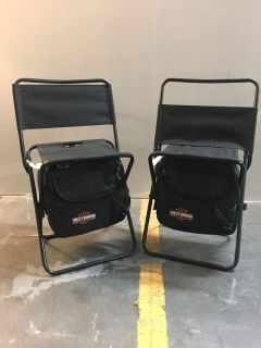Harley Cooler Folding Chairs *new*