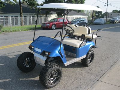 "2008 EZGO GOLF CART 8"" LIFTED BIG TIRES WHEELS ELECTRIC"