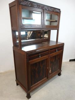 Art Deco Style China Cabinet, Vintage