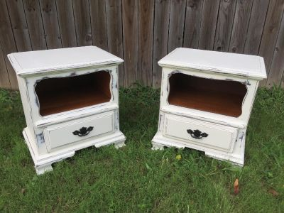 pair of end/side tables