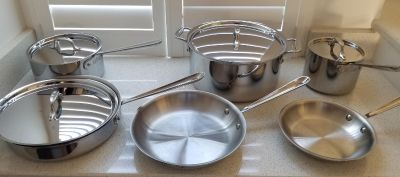 Like new All-Clad Stainless 10-Piece Set
