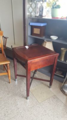 Wooden Table with Metal Feet