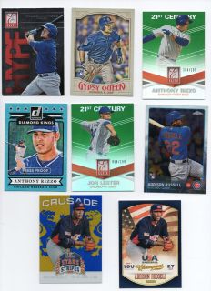 CHICAGO CUBS ROOKIES & #'ed CARDS SCHWARBER, RIZZO...