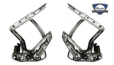 """Buy NEW CHQ 1967-1969 GM """"F"""" Body High Quality Chrome Hood Hinges-Pair motorcycle in Punta Gorda, Florida, United States, for US $374.95"""