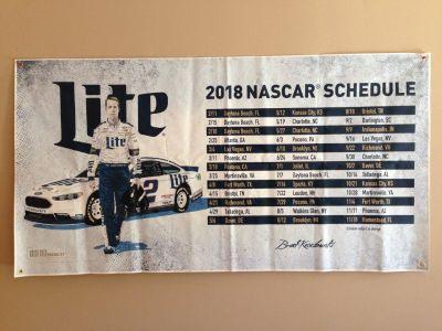 """Large NASCAR/Miller Lite/ Banner/72"""" x 38"""" KESELOWSKI """""""