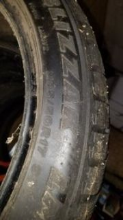 (5) bridgeton blizzak lm-25 205/50r17 snow tires