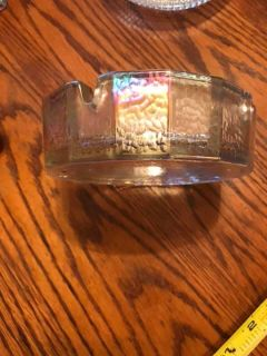 Vintage Carnival Glass Ashtray