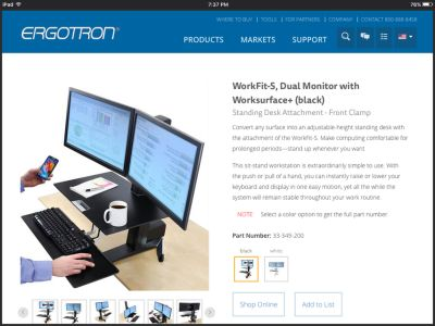 Ergotron Sit - Stand Workstation