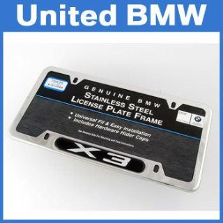 Sell Genuine BMW X3 Polished Stainless Steel License Plate Frame motorcycle in Roswell, Georgia, US, for US $36.00