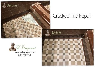 Cracked Tile Repair - Restoration service