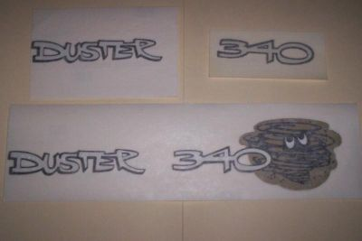 Sell MOPAR 1970 - 1972 DUSTER 340 FENDER AND TRUNK 5 PIECE DECAL SET motorcycle in Sebastian, Florida, US, for US $50.00