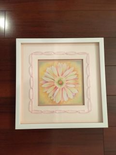 Beautiful Custom Matted Floral Picture Perfect for Little Girl's Room