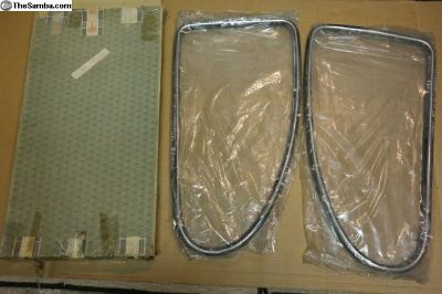 NOS Early Beetle Quarter Windows Glass Seals Trim