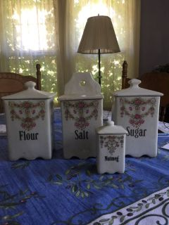 Antique canisters set