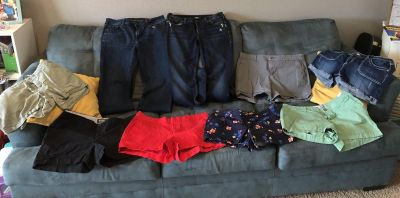Lot of women s shorts and jeans