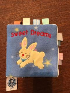 Soft Fleece Cloth Baby Book with Ribbons