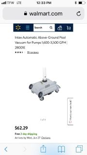 Intex Automatic Pool Cleaner/Above ground pool
