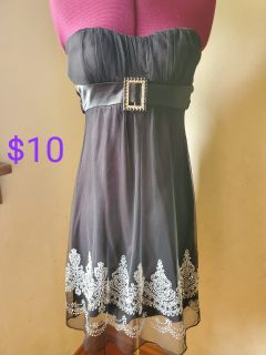 Strapless black short party dress size S.