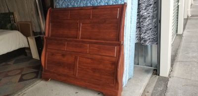 complete ,cherry Queen size sleigh bed headboard ,footboard ,side rails and slats call