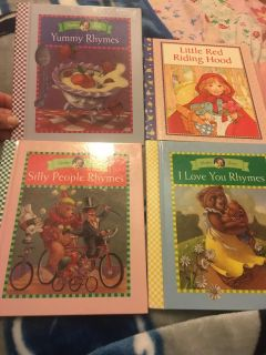 Little Red Riding Hood, Yummy Rhymes, Silly People Rhymes & I Love You Rhymes Hardcover books