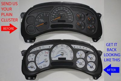 Purchase CUSTOM SUBURBAN CLUSTER REPAIR SERVICE + ESCALADE WHITE GAUGES & BLUE POINTERS motorcycle in Putnam, Connecticut, US, for US $225.00