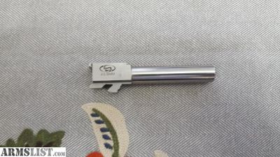 """For Sale: Storm Lake Barrel Glock 23 40 S&W to 9mm Luger Conversion 1 in 16"""" Twist 4.02"""" Stainless Steel"""