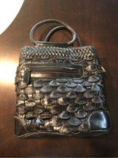 Real Leather Black Purse