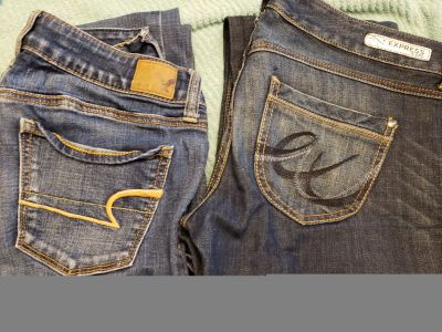 2pc lot, size women 4. Jeans American eagle, express