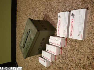 For Sale: 500 Rounds of 40 SW with Ammo Can