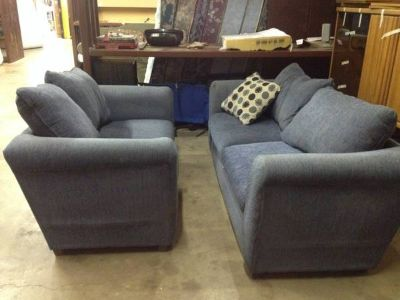 Couch love seat sets-blue green