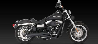 Sell Vance & Hines Big Radius 2-into-1 Exhaust Black 06-11 Harley Davidson Dyna motorcycle in Ashton, Illinois, US, for US $742.46